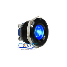 Durable 12V 16mm Black Housing Car Blue LED Indicator With Screw Terminal