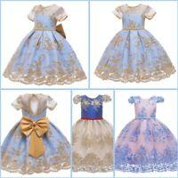 Baby Dresses Kid Wedding Dress Tutu Bridesmaid Girl Princess Flower Party Formal