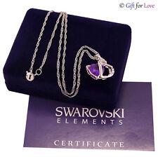 Collana Donna Argento Swarovski Elements Originale G4love cristalli Quadrifoglio Azzurro