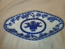 Antique Delft England Blue and White Diamond Trinket Dish In Great Condition