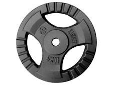 Kawmet 10 kg Hantelscheiben aus Guss mit 30.5 mm Bohrung Schwarz