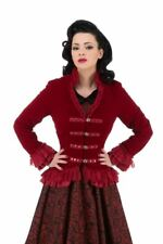 H&R Gothic Victorian Velvet Tail Jacket with Corset Back PLUS SIZES 8 - 20