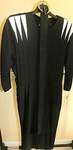 12 NWT My Michelle Black Dress sz 12 Wide Belt Vintage 90s
