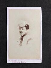 Victorian Carte De Visite CDV: Lady Pretty Hat: Alexandra Studio, Westbourne