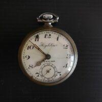Montre à gousset Régulateur Français métal laiton vintage XIXe 1880 France N4392