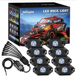 Nilight RGB LED Rock Lights Pods Kit Underglow Multicolor Neon for Truck ATV UTV