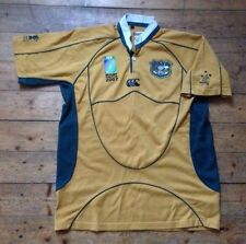 "AUSTRALIA ""THE WALLABIES"" RUGBY WORLD CUP 2007 RUGBY UNION SHIRT / JERSEY  LARGE"