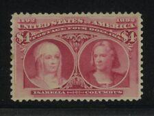 US Scott #244 MINT NG XF $4 Columbian Mint No Gum Well centered