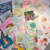 vintage baby shower greeting card mixed lot used