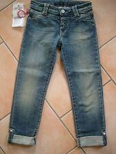 (152) Nolita Pocket Girls used look Jeans Hose mit Nieten zum Umschlagen gr. 98