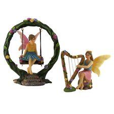 Fairy Garden Accessories Fairies - Kit with 2 Fairies & Swing Set - by Pretmanns
