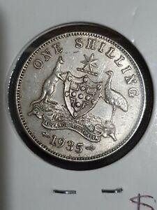 1935 australian shilling coin EF+