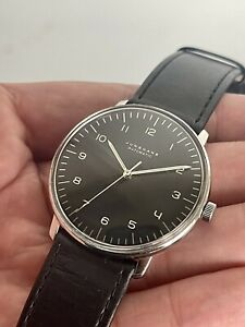 Genuine JUNGHANS Max Bill 027.3400 Bauhaus Automatic Black Dial 38mm Men's Watch
