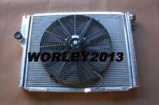 Aluminum radiator + fan for BMW E24 M6 M635 CSI 83-89 & E28 M5 S38 M88 3.5 84-87