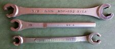 Lot of 3 Flare Nut Wrenches.  New Britain NDF-552, Blackhawk ZW-1214, & MAC OB 4