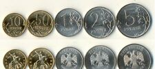 Russia 10*set of 5 circulation coins 2013 spmd 10 kopeck-5 rouble 50 coins