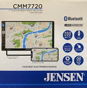 "NEW Jensen CMM7720 2-DIN 7"" Multimedia Car Stereo w/ Bluetooth"