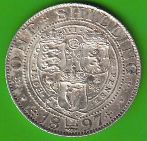 United Kingdom Shilling 1897 Scarce XF Nice nswleipzig