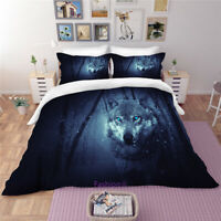 Black Wolf Queen/Single/Double/King Bed Set Quilt Donna Duvet Cover Set Linen