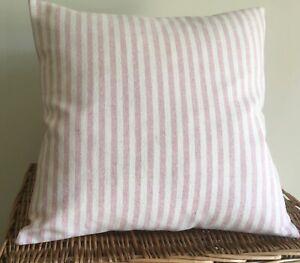 Susie Watson Cushion Cover  ROSE & IVORY STRIPE
