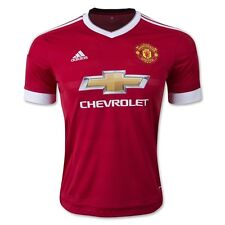Adidas Manchester United 2016 Youth Home Red Soccer Jersey Size S (4-6) Year old