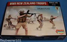 STRELETS Set M 111. seconda GUERRA MONDIALE le truppe Nuova Zelanda. SCALA 1/72. 52 FICHI