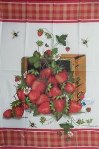 Strawberry Basket Standard House Flag by Breeze Art #9213