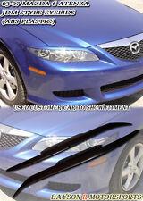 Headlights Eyelids Eyebrows Covers (ABS) Fits 03-08 Mazda 6