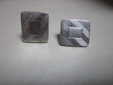 Cufflinks Men's or Women's Costume Silver in Color Nice Place for Engraving NICE