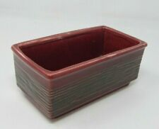 Retro Mcm Textured Burgundy McCoy Window Box  00006000 Planter Rectangular Pot