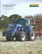 Farm Tractor Brochure - New Holland - T4.85 et al T4 series - 2013 (F5939)