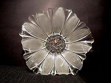 "Mikasa Glass Fruit Bowl 13"" Centerpiece SUSANNA SATIN EUC Walther-Glas Germany"