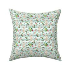 Mint Stripe Watercolor Throw Pillow Cover w Optional Insert by Spoonflower