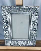 Silver Carved Wood Art Nouveau Style Picture Frame