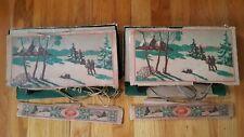 Vintage Christmas Lights Messervey's 2 Sets (One 8 Light And One 7 Light)