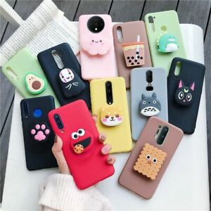 3D Silicone Phone Holder Case Cartoon Oneplus Pro Cute Stand Cover Dustproof