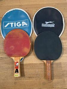 RARE Vintage Stiga Alser World Champion Table Tennis Bat & Slazenger Bat