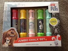 The Secret Life of Pets Jumbo  Chalk Set from  5 pack 3+ NEW in box