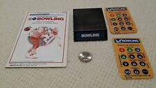 Mattel Intellivision, PBA Bowling cartridge with manual and two (2) overlays