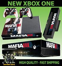 XBOX ONE Console Sticker Mafia III 3 Lincoln Clay Gangster SKIN & 2 PAD SKINS