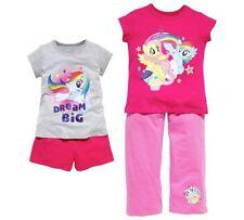 BNWT età 3-4 anni bambina My Little Pony pigiama-Estate - 2 Confezione