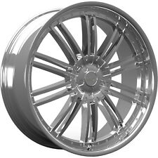 20x8.5 Chrome Kronik Pain Killer Wheels 5x100 5x4.5 +38 Fits Audi TT