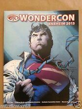 WonderCon 2013 Souvenir program bookSUPERMAN Jim Lee art cover