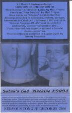 SATAN's GOD - Machine X9094 / Rares Tape, MC, Nervous Tongue Rec., 2006