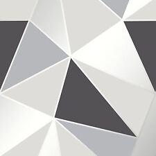 Apex Geometrische Tapeten schwarz / silber - feine Dekor fd41994 Dreiecke