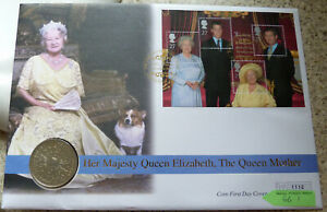 1980 Queen Mother 80th Birthday Crown Coin Cover (FDC) (#66.1)