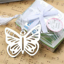 Nice Butterfly Creative Exquisite Alloy Bookmarks With Ribbon Box Gift .