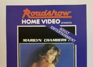 INSATIABLE Roadshow Home Video VHS FLIER Marilyn Chambers Golden Age classic