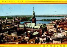Hamburg - Rathaus mit Binnen- und Außenalster - 1975