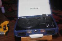 Crosley Cruiser Briefcase Style Three Speed Portable Vinyl Turntable VGC